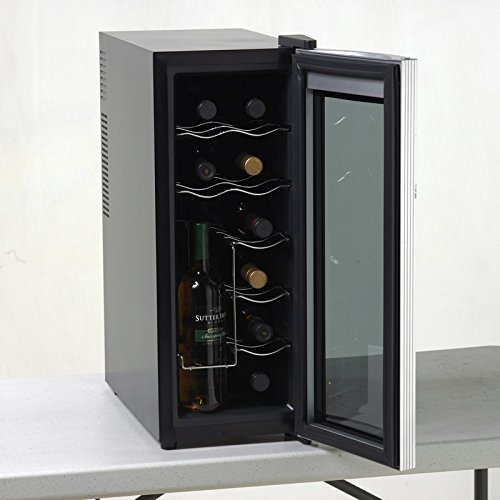 Avanti 12 Bottle Thermoelectric Counter Top Wine Cooler with Opened Doors
