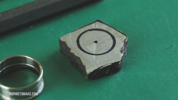 gibeon meteorite ring diy