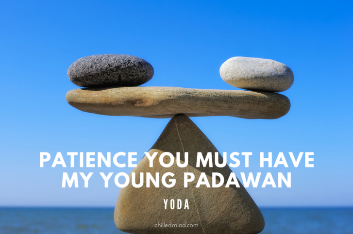 Patience you must have my young padawan. -Yoda