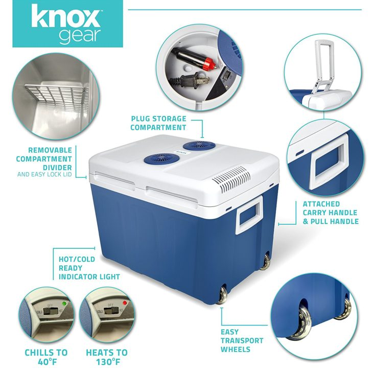 Knox Gear Electric Cooler Warmer With Built In Car And Home Plug Refrigerator Features